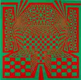 "Roy Ahlgren Serigraph "" Desert Icon III"""