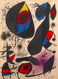 Joan Miro Lithograph, Miro, A L'Encre II