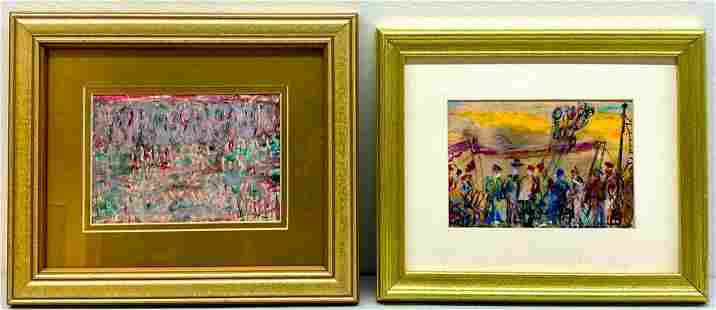 Two Works By Pascal Cucaro, Carnival Scenes
