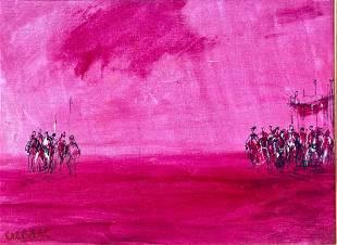 Pascal Cucaro Acrylic Painting, Untitled