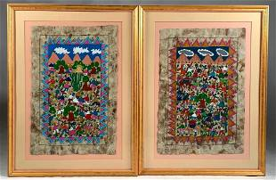 Two Mexican Folk Art Paintings