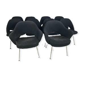 Set of Ten Eero Saarinen Wool Upholstered Executive