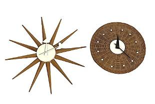 George Nelson Basket Wall Clock For Howard Miller