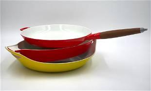 Three Pieces Copco Denmark Enamel Cookware