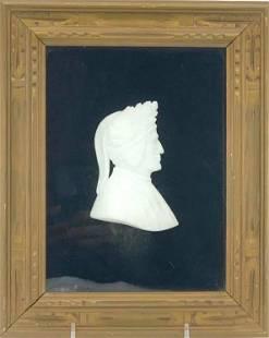 Grand Tour Carved Marble Profile of Dante Alighieri