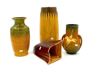 Four Pieces of Art Pottery, Roseville