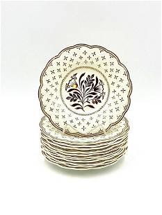 Twelve Wedgwood Lustreware Desert Plates