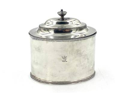 Hester Bateman Sterling Silver Tea Caddy, 1784