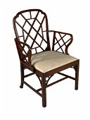 George III Chinese Chippendale  Armchair, 18thc.