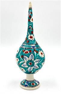 Turkish Glazed Ceramic Water Sprinkler, 19th/20thc.