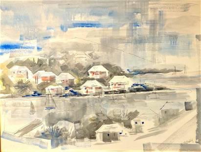 Alfred Birdsey Watercolor, Bermuda