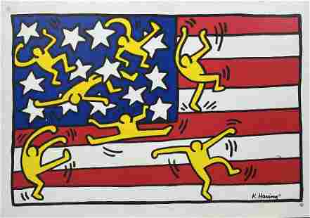 Keith Haring Poster, Flag