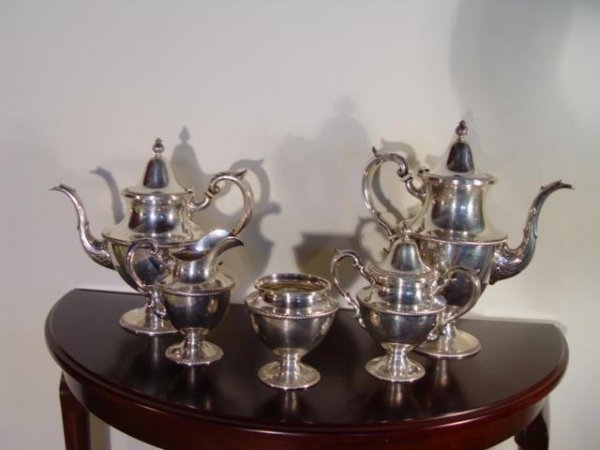 5: Stunning English 5-piece Sterling Silver Tea Service