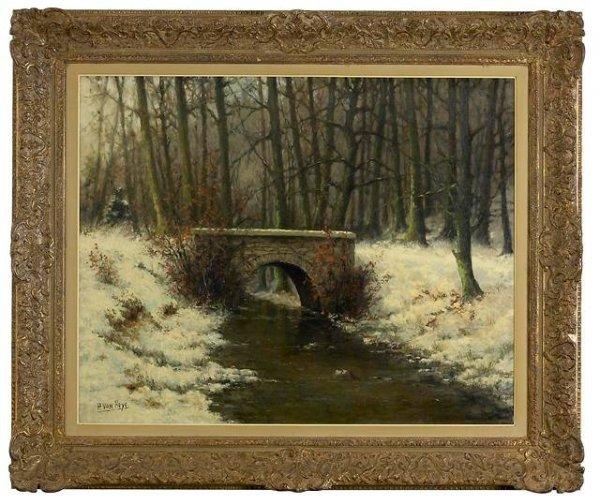 8: Winter Landscape by Paul van Hoye(1887-1962).Listed