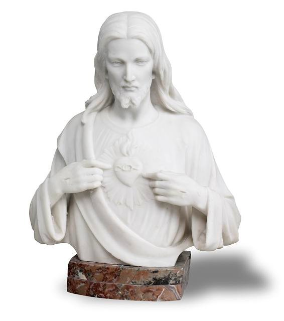 19: Marble Bust of Jesus Christ.