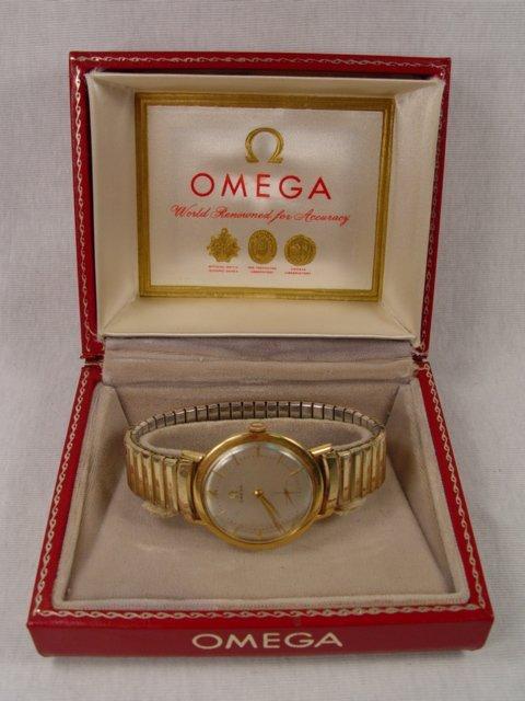 5: 18k Gold Omega Watch in Original Box