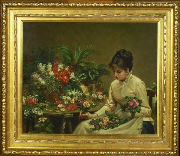 13: Young Lady Portrait on Porcelain Plaque.