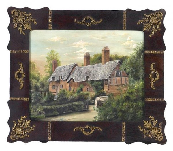 19: Victorian Painting of a Cottage in an Original Fram