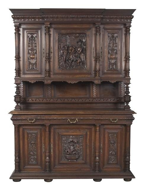 20:  Gorgeous French Oak Buffet, Late 19th Cent.