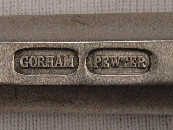 299: GORHAM Pewter OCTETTE Flatware Set 34 Pcs. - 3