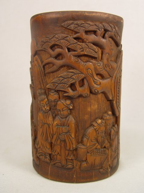3: Antique Chinese Carved Bamboo Cup