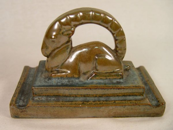 7: Art Deco Ram Paperweight, Early 1900s.