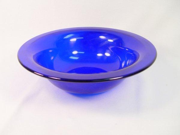 1002: Cobalt Blue Peking Glass Round Bowl.