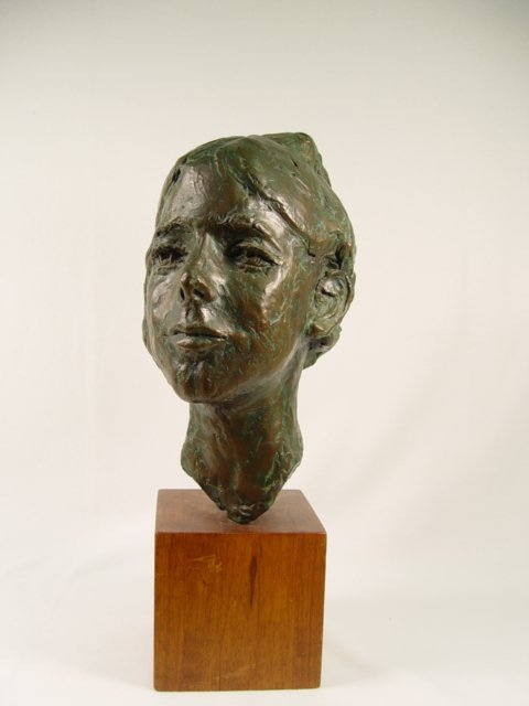 1004: Signed Talkington Bronze Head of Woman.