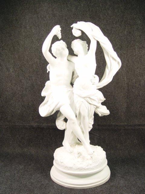 1023: Large Signed Porcelain Greek/Roman Dancing Figure