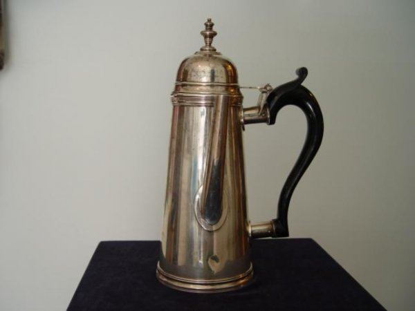 1081: Stieff Sterling Side Pour Tea Pot