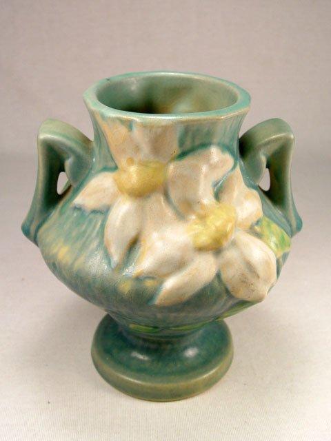 1001: Roseville Blue Clematis Urn #188-6.