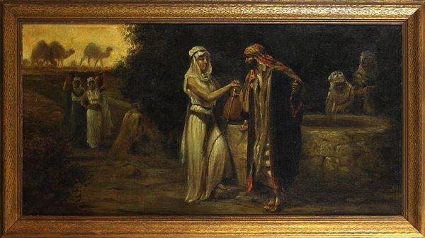 1005: Large19 C. Orientalist Oil on Canvas