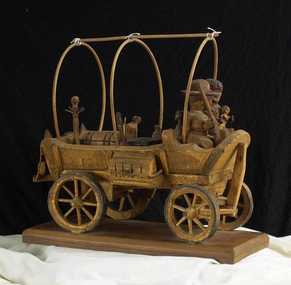 1018: 19th C. Wood Carving Folk Toy. European style.