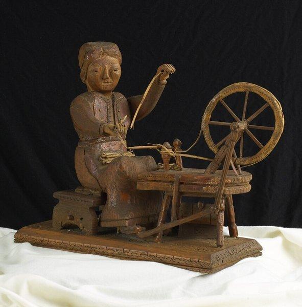 1019: 19th C. Wood Carving Folk Toy. European style.