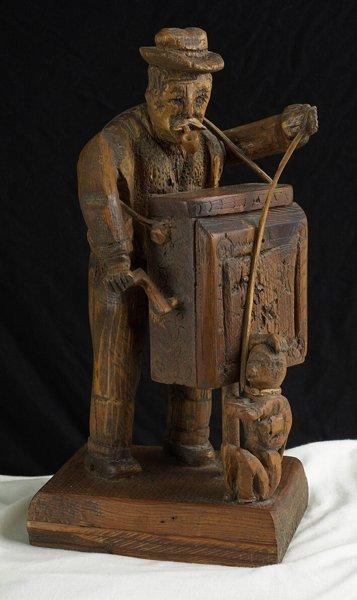 1020: 19th C. Wood Carving Folk Toy. European style.