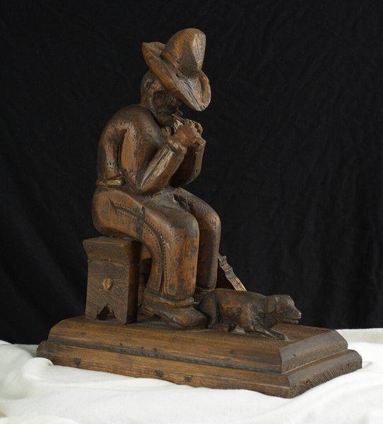 1021: 19th C. Wood Carving Folk Toy. European style.