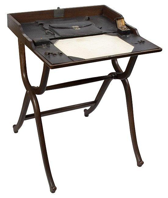 1123: Military Campaign Desk. late 1800s.