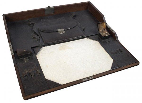 1123: Military Campaign Desk. late 1800s. - 4