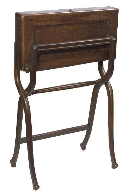 1123: Military Campaign Desk. late 1800s. - 5