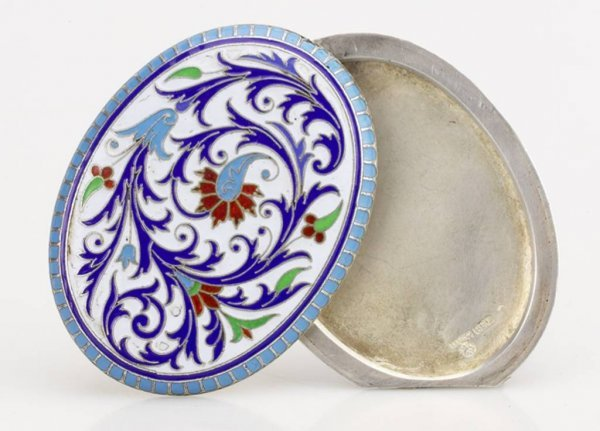 6: A Russian Silver and Enamel Picture Holder , Grachev
