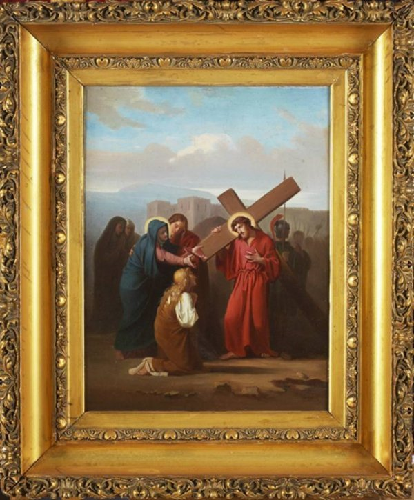 216: Old Master 19c. Jesus Carrying The cross