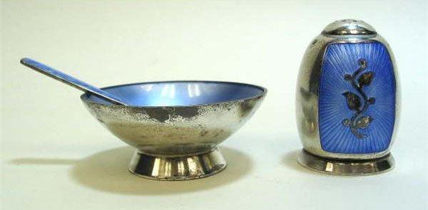 14: Antique Denmark Sterling VB Silver Salt Cellar and
