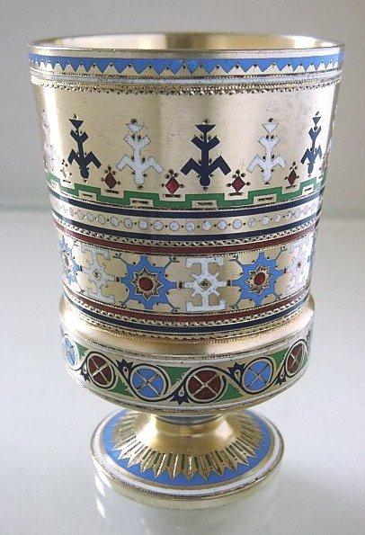 16: Russian Silver & Enamel Beaker Khlebnikov