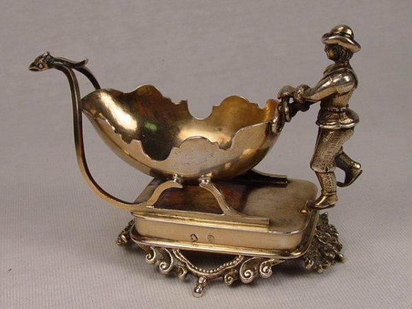 18: Antique Hallmarked Silver Master Salt.
