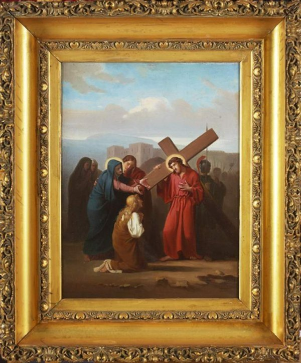 1: Old Master 19c. Jesus Carrying The cross