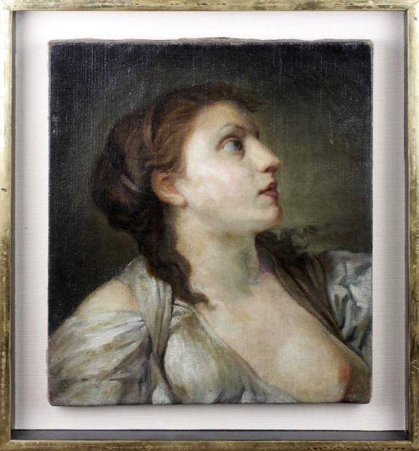 23: Old Master 18c. Circle of Greuze Jean-Baptiste Greu