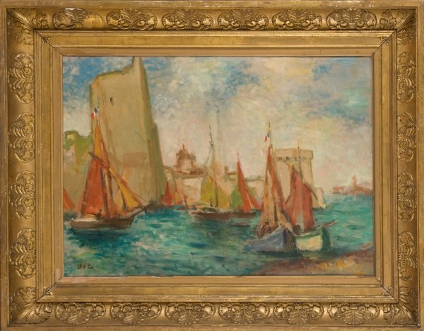 14: Georges D'Espagnat (French, 1870-1950) Port de la R