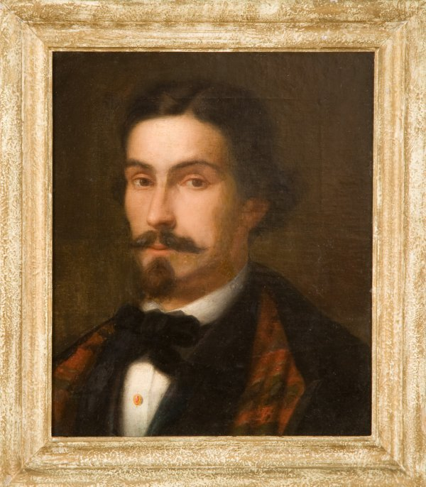 23: Continental School Painting. 19c. Man Portrait.