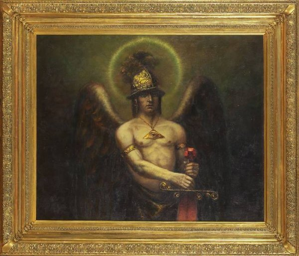 1: Continental School Painting. Archangel Michael