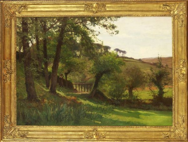 3: Belgian Impressionist Painting. Landscape. Circa 191